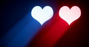 Coeurs abstraits de valentine Image libre de droits