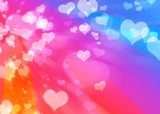 Coeurs affectueux de beau vol Photos stock