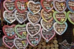 Coeurs allemands de pain d'épice Images libres de droits