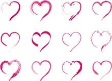 Coeurs assortis Photos stock