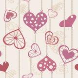 Coeurs attachés à une chaîne de Photo libre de droits