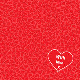 Coeurs avec amour sans couture Images stock