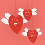 Coeurs avec des ailes Photo libre de droits