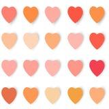 Coeurs avec des ombres dans différentes couleurs, vecteur Photo libre de droits