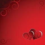 Coeurs avec l'ornement Photographie stock libre de droits