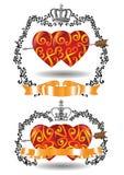 Coeurs avec la flèche Image stock