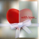 Coeurs avec le ruban transparent image libre de droits