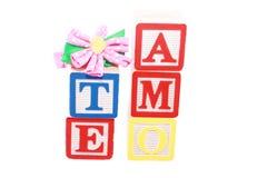 Coeurs avec le texte (AMO de Te) Image stock