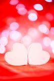 Coeurs blancs au-dessus de fond de bokeh Images libres de droits