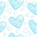 Coeurs bleu-clair sur un fond blanc illustration de vecteur