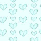 Coeurs bleu-clair sur un fond blanc illustration stock