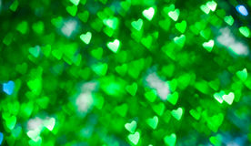 Coeurs brillants verts Image stock