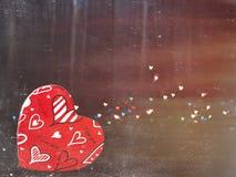 Coeurs brouillés Fond de jour de valentines Aimez le concept pour le jour du ` s de mère et le jour du ` s de valentine Carte pos Photos stock