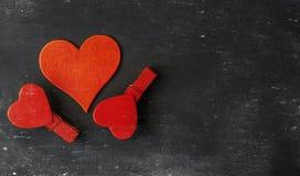 Coeurs brouillés Fond de jour de valentines Aimez le concept pour le jour du ` s de mère et le jour du ` s de valentine Carte pos Images libres de droits