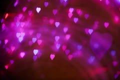 Coeurs brouillés Fond de jour de valentines Amour Photos stock