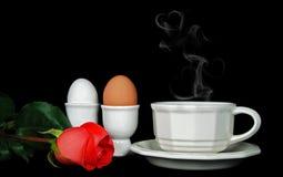 Coeurs chauds et humides avec du café Photo libre de droits