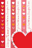 Coeurs Coeurs Corazones Image libre de droits