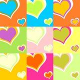 Coeurs colorés 01 illustration de vecteur