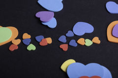 Coeurs colorés Photos stock