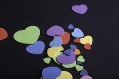 Coeurs colorés Photos libres de droits