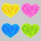 Coeurs colorés d'éléments de scénographie illustration stock