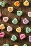 Coeurs colorés de conversation de sucrerie Photographie stock