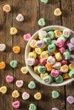 Coeurs colorés de conversation de sucrerie Photo libre de droits