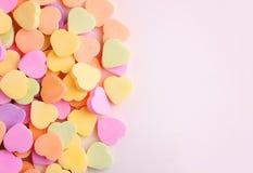 Coeurs colorés de sucrerie Photographie stock libre de droits