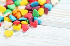 Coeurs colorés de sucrerie Photos libres de droits