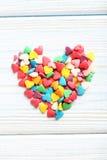 Coeurs colorés de sucrerie Photos stock