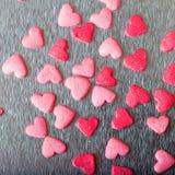 Coeurs colorés doux de sucrerie Photographie stock