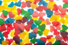 Coeurs colorés doux de sucrerie Images libres de droits