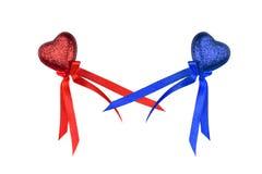 Coeurs colorés du jour de Valentine Photographie stock libre de droits