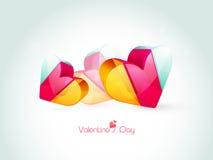 Coeurs colorés pour la célébration de Saint-Valentin Image stock