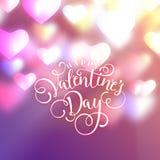 Coeurs comme fond Concept de jour de Valentines Illustration de vecteur photo libre de droits