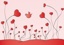 Coeurs croissants Photographie stock libre de droits