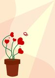 Coeurs croissants Image libre de droits