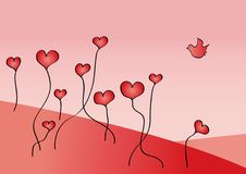 Coeurs croissants Images stock