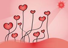 Coeurs croissants Images libres de droits