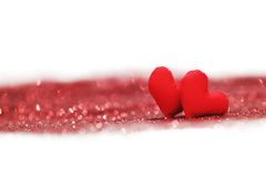 Coeurs décoratifs de jour de valentines Photos libres de droits