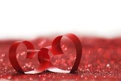 Coeurs décoratifs de jour de valentines Photo libre de droits