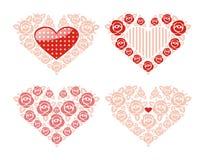 Coeurs décoratifs pour le jour de Valentineâs. Photo libre de droits