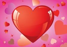 Coeurs d'amour Photo libre de droits
