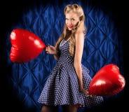 Coeurs d'amour Images libres de droits