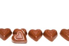Coeurs d'amour de chocolat Image stock