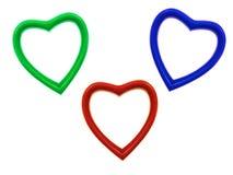 Coeurs d'amour de tasse de café Images libres de droits