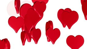 Coeurs d'amour de vol, animation de fond de mariage, le jour de valentine, alpha matte illustration de vecteur