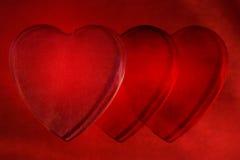 Coeurs d'amour jointifs ensemble Photographie stock