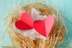 Coeurs d'amour, jour de valentines Coeurs faits main Photographie stock libre de droits