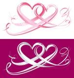 Coeurs d'amour pour le jour de valentines Photo libre de droits